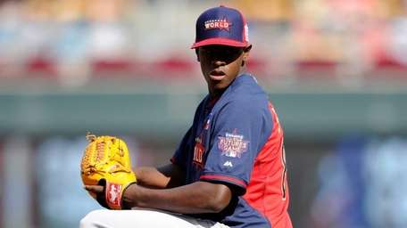 Luis Severino, a Yankees prospect pitching for the