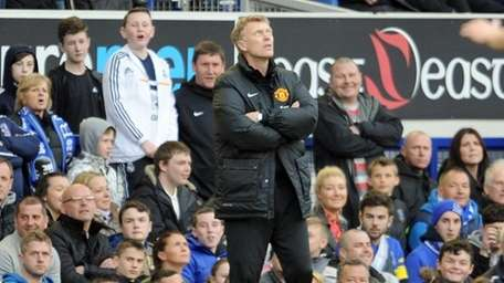 Manchester United's manager David Moyes is seen during