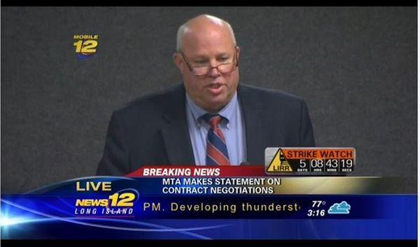 MTA Chairman Thomas Prendergast addresses the media on