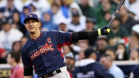 The National League's Troy Tulowitzki, of the Colorado