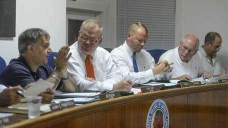 (L-R) Members of the Village Board of Bayville