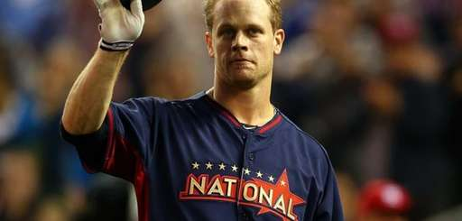 National League All-Star Justin Morneau #33 of the