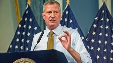 Mayor Bill de Blasio said Monday that he