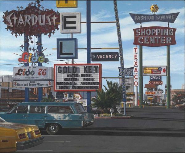 Viva Las Vegas in John Baeder's work