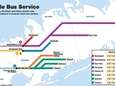 This shuttle bus map was released by the