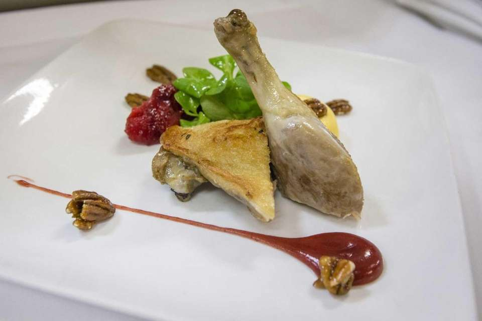 Mirabelle restaurant's namesake duck dish, duck Mirabelle, is