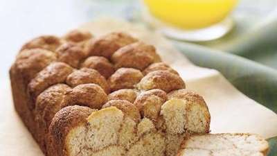 The cinnamon bubble loaf recipe can be found
