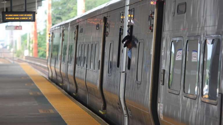 LIRR at the Bellmore LIRR station on Monday,