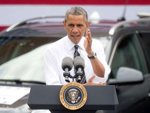 President Barack Obama speaks about the economy at