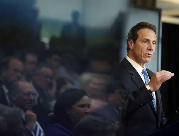 New York Gov. Andrew Cuomo speaks during an