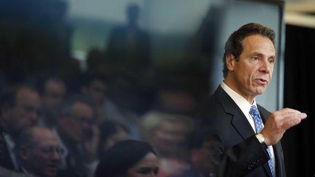 New York Gov. Andrew Cuomo speaks during an