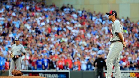 Adam Wainwright #50 of the St. Louis Cardinals