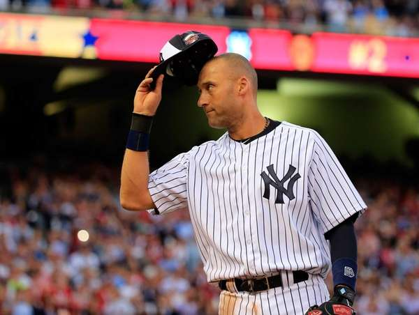 American League All-Star Derek Jeter of the Yankees