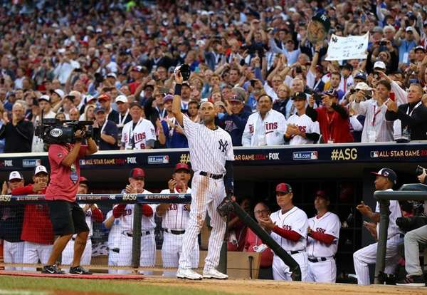 American League All-Star Derek Jeter of the Yankees