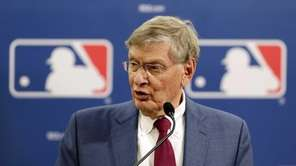 MLB Commissioner Bud Selig speaks during a news