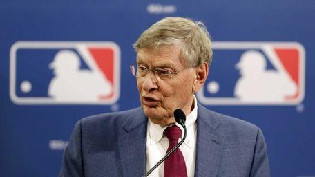 MLB Commissioner Bud Selig speaks during a news
