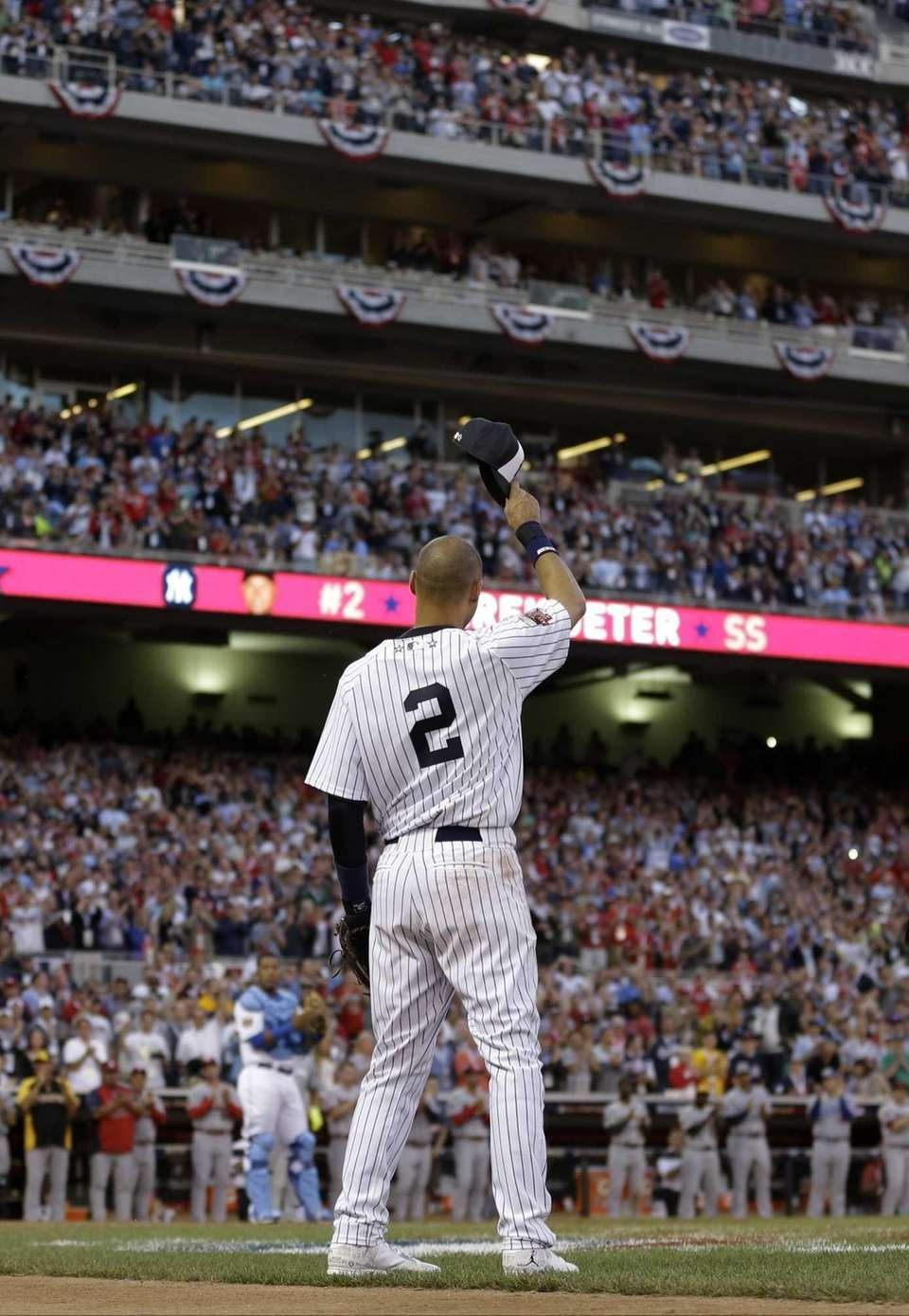 Jeter started at shortstop in his final All-Star