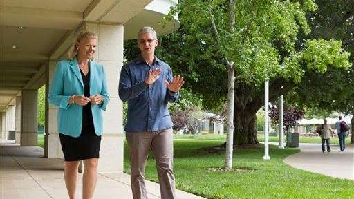 Apple CEO Tim Cook and IBM CEO Ginni