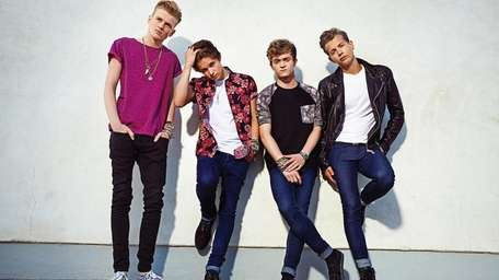 The Vamps, pictured left to right: Tristan Evans,