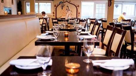The dining room at Saaz restaurant in Southampton,