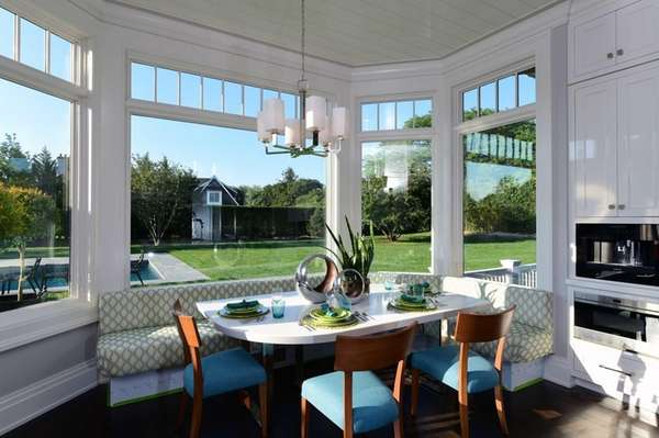The breakfast nook in the kitchen designed by