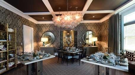 The dining room at the Hampton Designer Showhouse