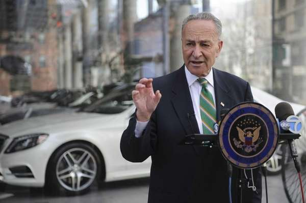 U.S. Senator Charles Schumer is seen at a