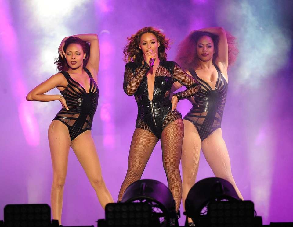Beyonce performs during the On The Run tour