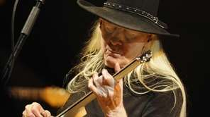 Guitarist Johnny Winter performs at the XII Jazz