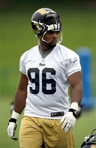 St. Louis Rams rookie defensive end Michael Sam