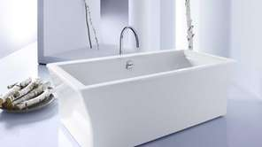 Kohler?s Stargaze tub has a square shape that