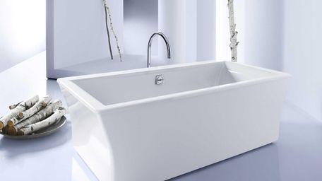 Kohler's Stargaze tub has a square shape that