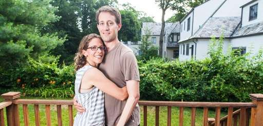 Jessica and Brad Berman at their home in
