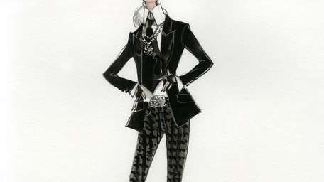 A sketch by world famous designer Karl Lagerfeld