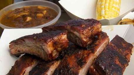 Ribs served at Townline BBQ in Sagaponack, July