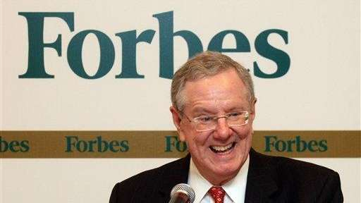 Steve Forbes, the chairman and editor in chief