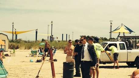 Tobay Beach was temporarily closed Friday after a