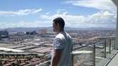 Chris Weidman looks at Las Vegas from his