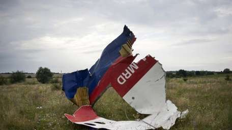 A piece of the crashed Malaysia Airlines Flight