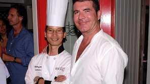Simon Cowell with executive chef Skinny Mei at