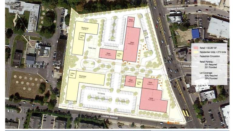 This rendering shows Brunswick Hospital property and the