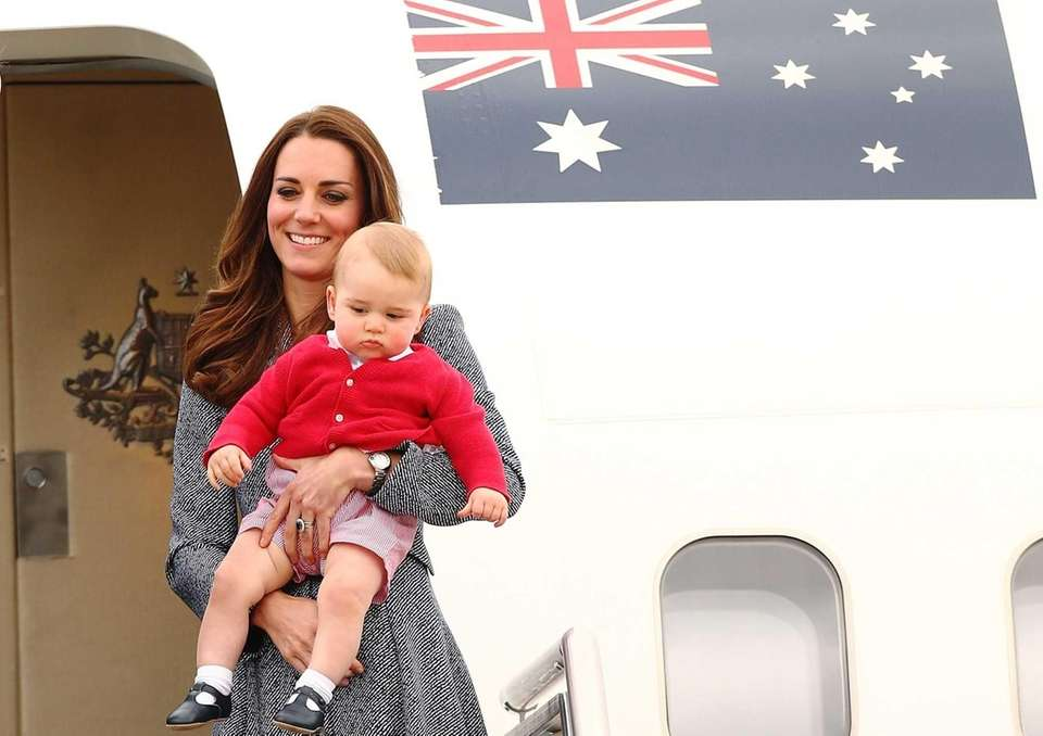 Catherine, Duchess of Cambridge, and Prince George of