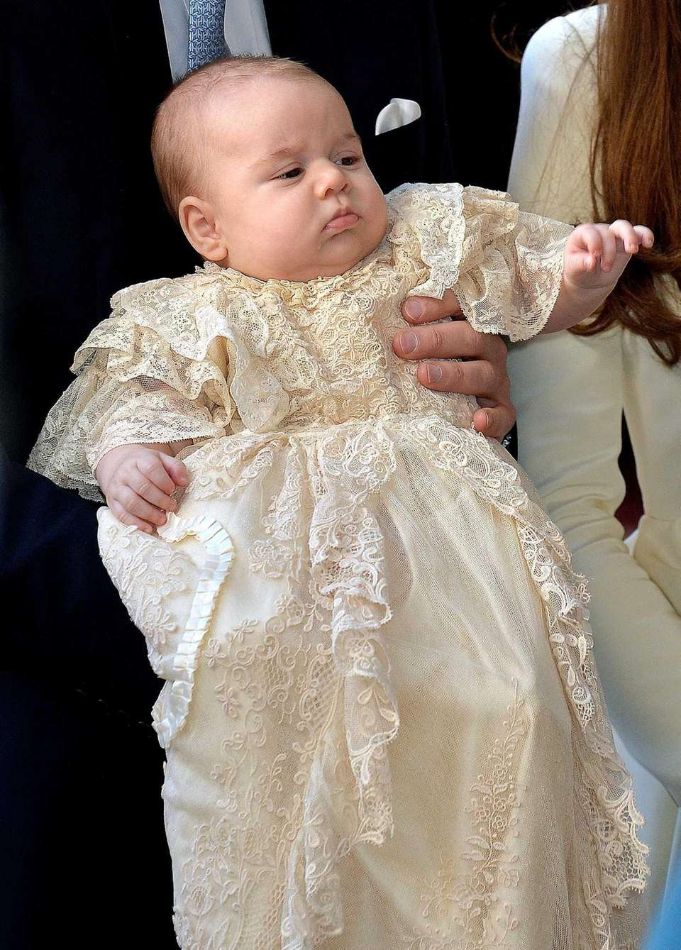 Prince George of Cambridge is carried by Prince