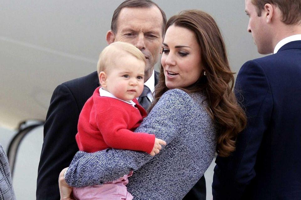 Australian Prime Minister Tony Abbott bidding farewell to