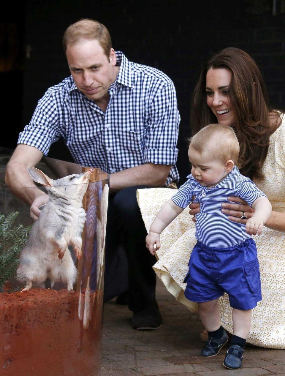 Britain's Catherine, Duchess of Cambridge, and Britain's Prince
