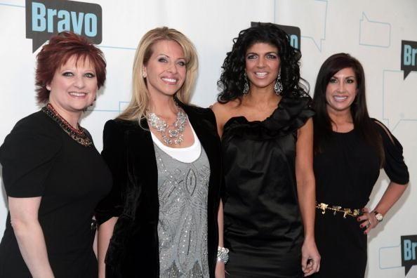 Dina Manzo, left, and Teresa Giudice at Bravo's