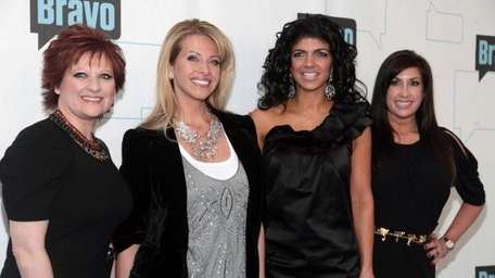 Dina Manzo, left, and Teresa Giudice at Bravo's