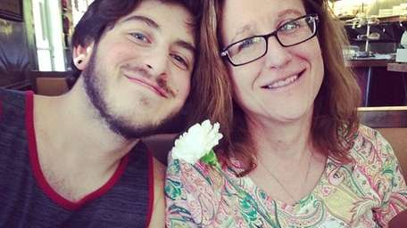 Robin Ames of Coram with her son, Eric.