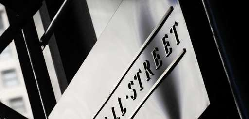 A Wall Street sign outside the New York