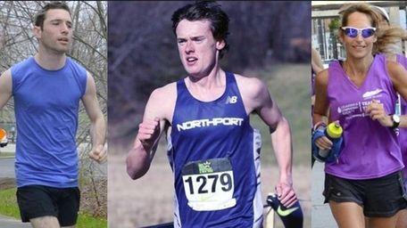 From left, Long Island runners Alex Schneider, of